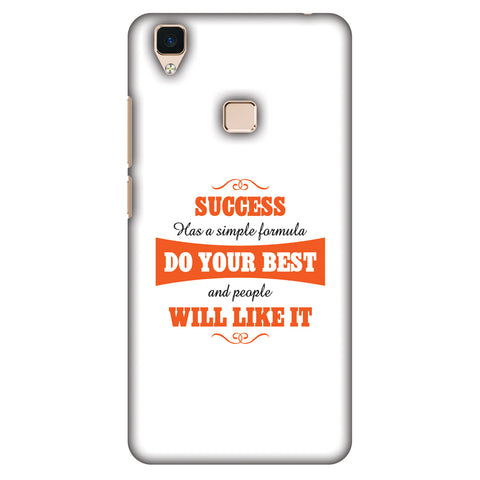Success Do Your Best Slim Hard Shell Case For Vivo V3