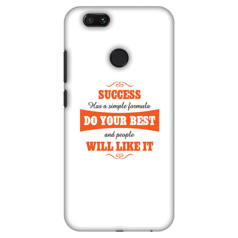 Success Do Your Best Slim Hard Shell Case For Xiaomi MI A1-5X