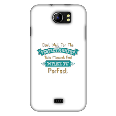 Make Perfect Moment Slim Hard Shell Case For Micromax Canvas 2 A110