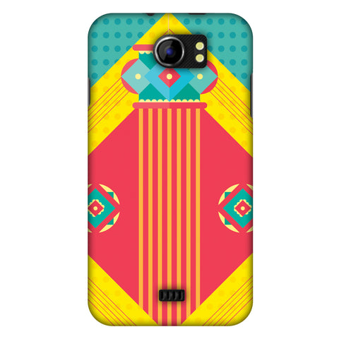 Let There Be Lamp Slim Hard Shell Case For Micromax Canvas 2 A110
