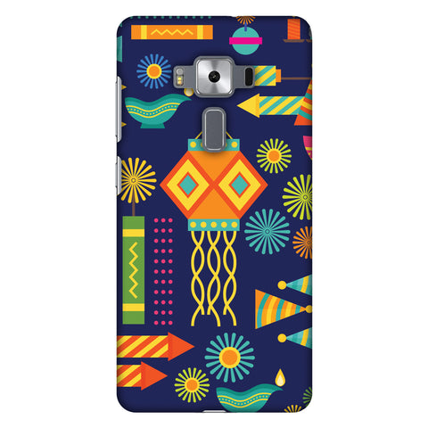 Diwali Galore Slim Hard Shell Case For Asus Zenfone 3 Deluxe ZS570KL