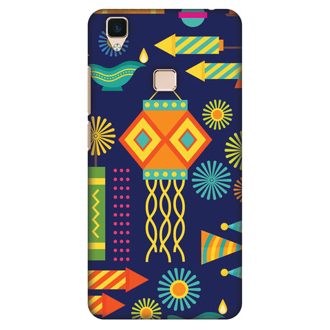 Diwali Galore Slim Hard Shell Case For Vivo V3