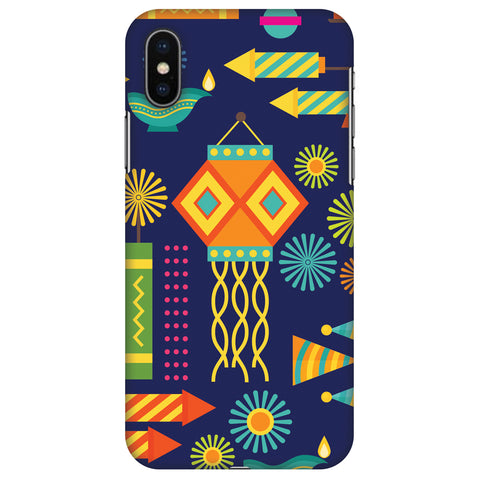 Diwali Galore Slim Hard Shell Case For Apple iPhone X