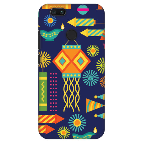 Diwali Galore Slim Hard Shell Case For Xiaomi MI A1-5X