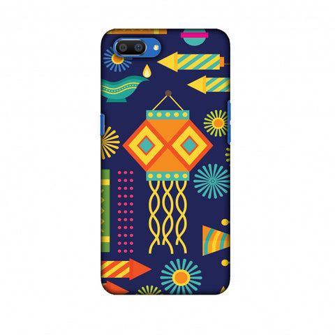 Diwali Galore Slim Hard Shell Case For Oppo Realme C1