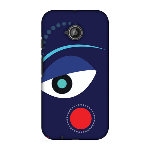 Divinegoddess - Blue Slim Hard Shell Case For Motorola Moto E 2nd Gen