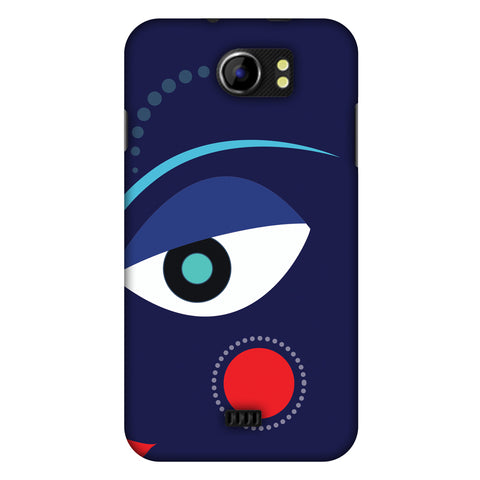 Divinegoddess - Blue Slim Hard Shell Case For Micromax Canvas 2 A110