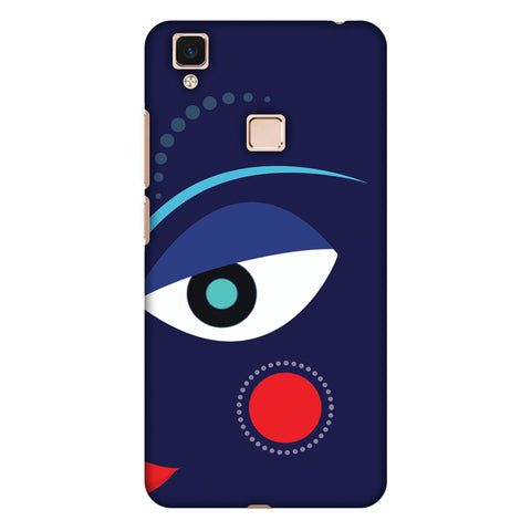 Divinegoddess - Blue Slim Hard Shell Case For Vivo V3 Max