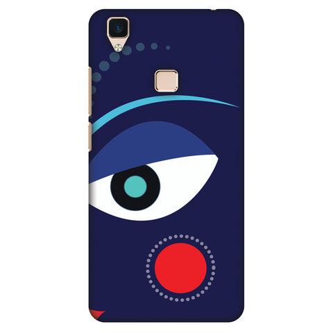 Divinegoddess - Blue Slim Hard Shell Case For Vivo V3