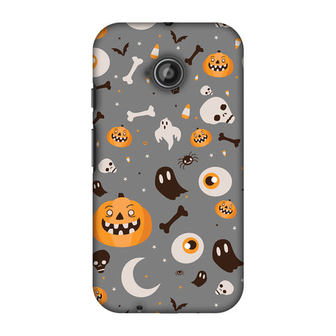 Freaky Grey Slim Hard Shell Case For Motorola Moto E 2nd Gen