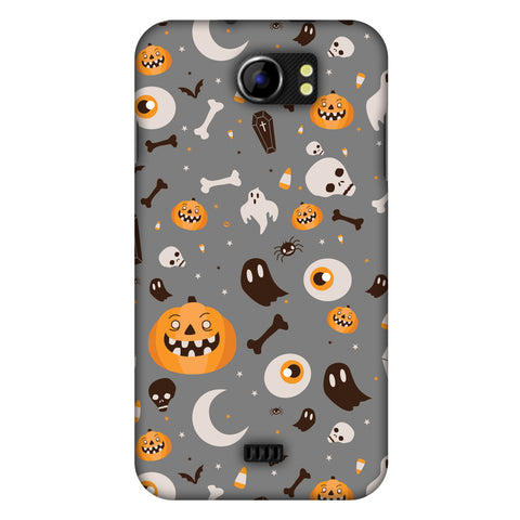 Freaky Grey Slim Hard Shell Case For Micromax Canvas 2 A110
