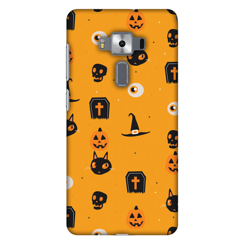 Spooky Collage Slim Hard Shell Case For Asus Zenfone 3 Deluxe ZS570KL
