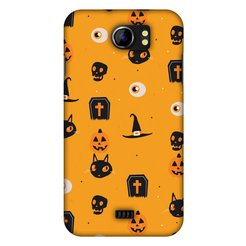 Spooky Collage Slim Hard Shell Case For Micromax Canvas 2 A110