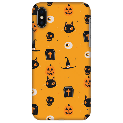Spooky Collage Slim Hard Shell Case For Apple iPhone X