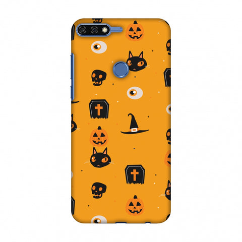 Spooky Collage Slim Hard Shell Case For Huawei Honor 7C