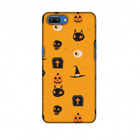 Spooky Collage Slim Hard Shell Case For Oppo Realme C1