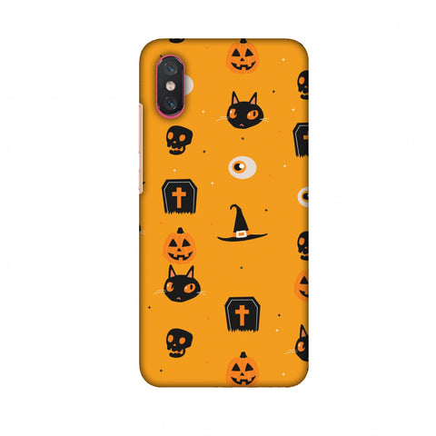 Spooky Collage Slim Hard Shell Case For Xiaomi Mi 8 Pro
