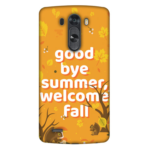Goodbye Summer Slim Hard Shell Case For LG G4