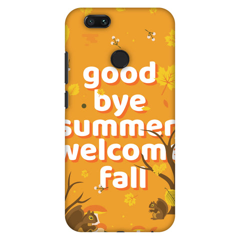 Goodbye Summer Slim Hard Shell Case For Xiaomi MI A1-5X