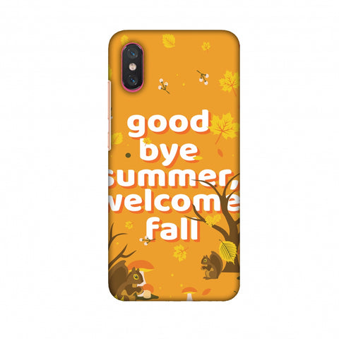Goodbye Summer Slim Hard Shell Case For Xiaomi Mi 8 Pro