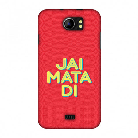 Jai Mata Di Slim Hard Shell Case For Micromax Canvas 2 A110