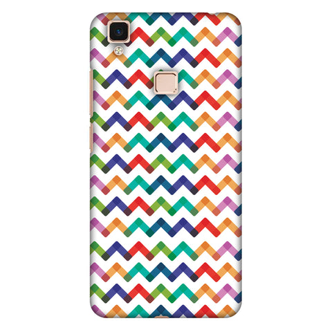 Chevron Chic 1 Slim Hard Shell Case For Vivo V3 Max