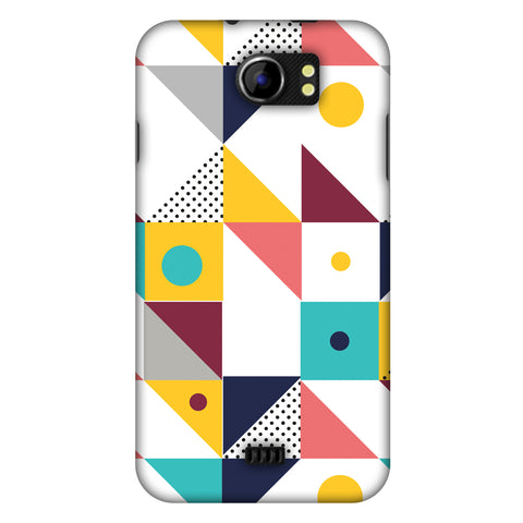 Chevron Chic 2 Slim Hard Shell Case For Micromax Canvas 2 A110