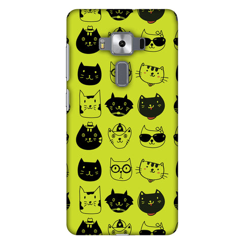 Cat Party Slim Hard Shell Case For Asus Zenfone 3 Deluxe ZS570KL