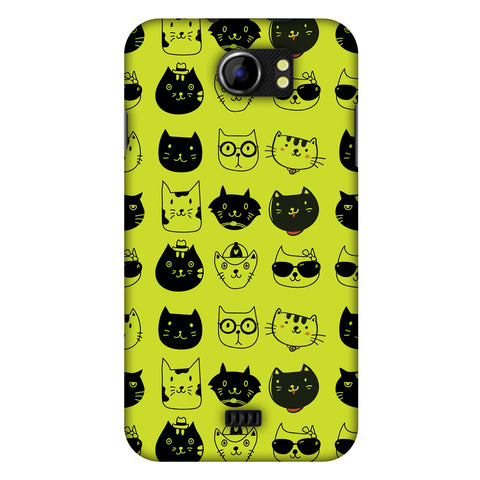 Cat Party Slim Hard Shell Case For Micromax Canvas 2 A110