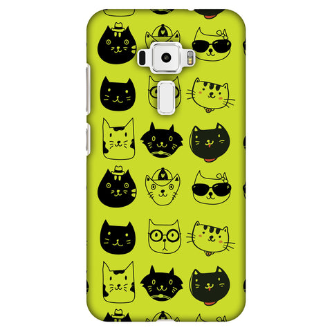 Cat Party Slim Hard Shell Case For Asus Zenfone 3 ZE520KL