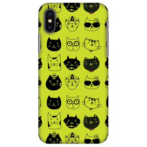 Cat Party Slim Hard Shell Case For Apple iPhone X