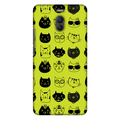 Cat Party Slim Hard Shell Case For Meizu Note 6