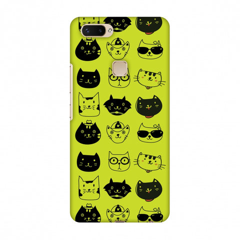Cat Party Slim Hard Shell Case For Vivo X20 Plus