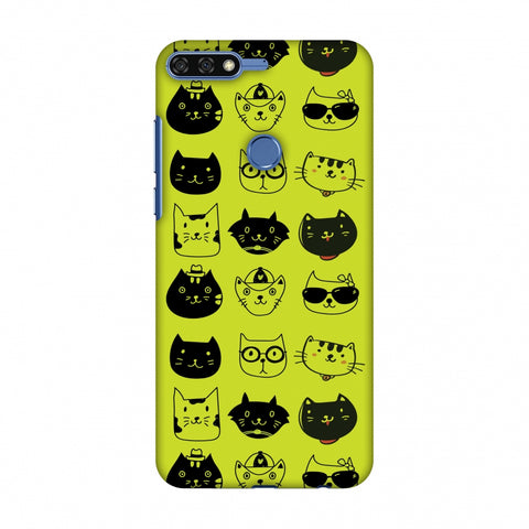 Cat Party Slim Hard Shell Case For Huawei Honor 7C