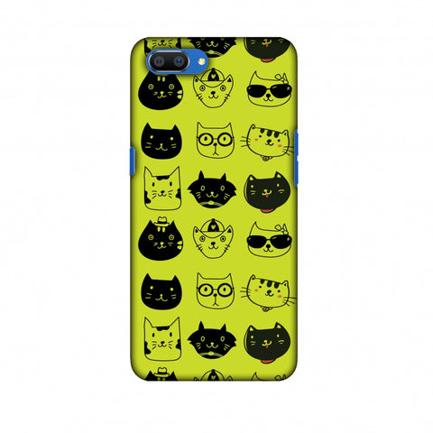 Cat Party Slim Hard Shell Case For Oppo Realme C1