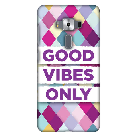 Good Vibes Only Slim Hard Shell Case For Asus Zenfone 3 Deluxe ZS570KL
