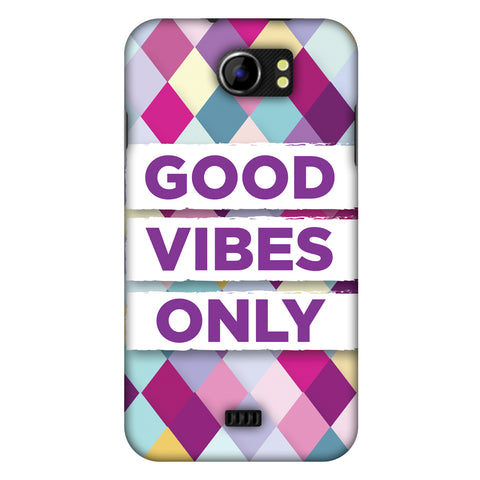 Good Vibes Only Slim Hard Shell Case For Micromax Canvas 2 A110