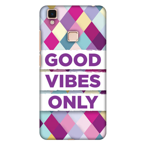 Good Vibes Only Slim Hard Shell Case For Vivo V3 Max