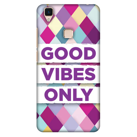 Good Vibes Only Slim Hard Shell Case For Vivo V3