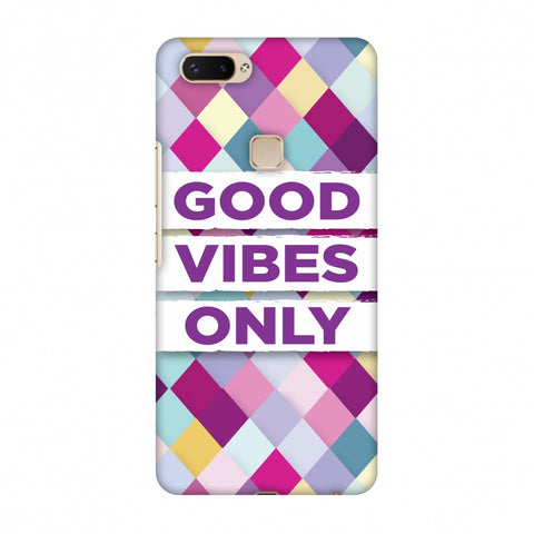 Good Vibes Only Slim Hard Shell Case For Vivo X20 Plus