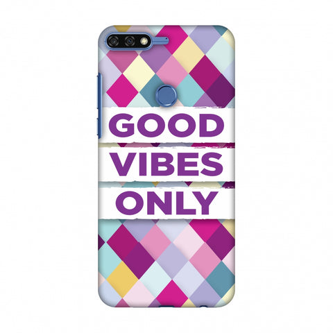 Good Vibes Only Slim Hard Shell Case For Huawei Honor 7C
