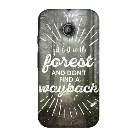 Lost In Forest Slim Hard Shell Case For Motorola Moto E 2nd Gen