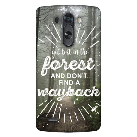 Lost In Forest Slim Hard Shell Case For LG G4