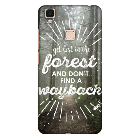 Lost In Forest Slim Hard Shell Case For Vivo V3 Max