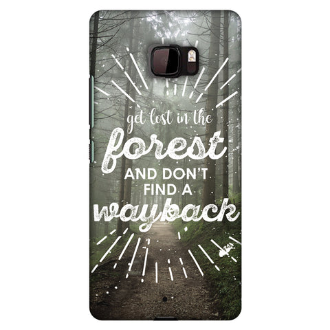 Lost In Forest Slim Hard Shell Case For HTC U Ultra