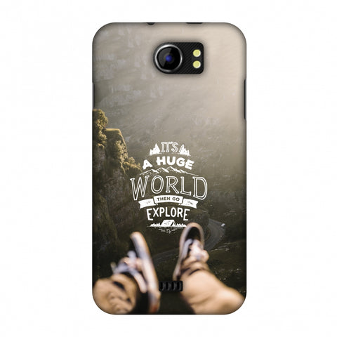 Explore The World Slim Hard Shell Case For Micromax Canvas 2 A110