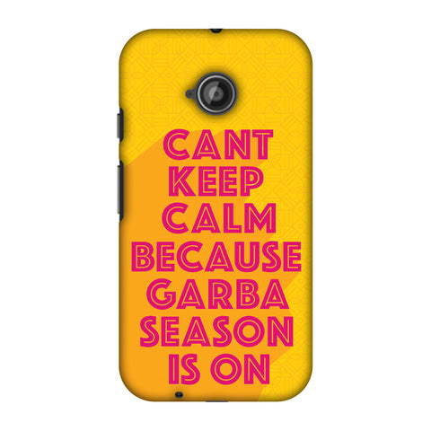 Garba Can't Keep Calm Slim Hard Shell Case For Motorola Moto E 2nd Gen