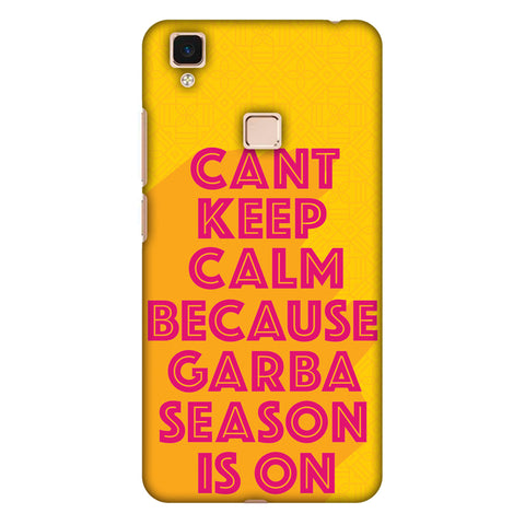 Garba Can't Keep Calm Slim Hard Shell Case For Vivo V3 Max