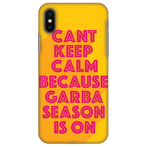Garba Can't Keep Calm Slim Hard Shell Case For Apple iPhone X