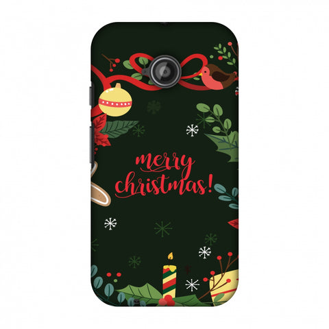 Christmas Cheer Slim Hard Shell Case For Motorola Moto E 2nd Gen